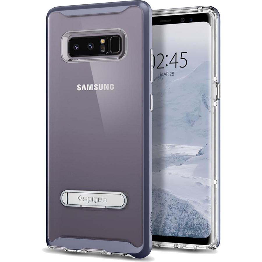 Чехол Spigen Crystal Hybrid для Samsung Galaxy Note 8 серый Orchid Gray (587CS21841)Чехлы для Samsung Galaxy Note<br>Spigen Crystal Hybrid — прозрачная защита, созданная исключительно для Samsung Galaxy Note 8.<br><br>Цвет товара: Серый<br>Материал: Термопластичный полиуретан, поликарбонат