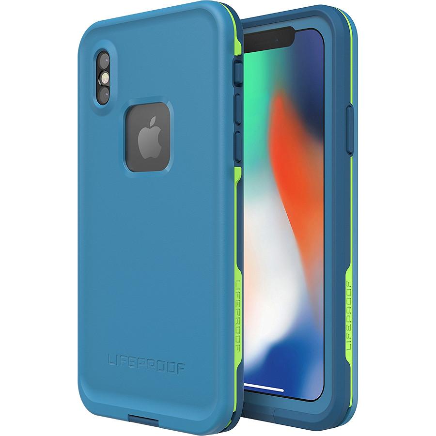 Водонепроницаемый чехол LifeProof FRE для iPhone X голубой BanzaiЧехлы для iPhone X<br>Чехол Lifeproof Fr? изготовлен из новейших полимеров, которые делают его максимально легким и прочным.<br><br>Цвет: Голубой<br>Материал: Пластик, силикон