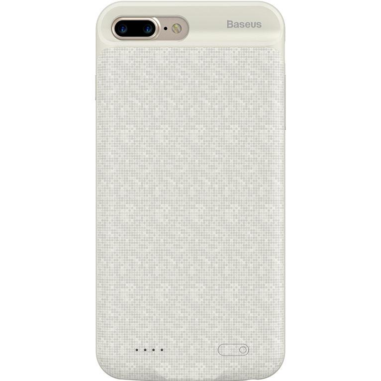 Чехол-аккумулятор Baseus Plaid Backpack Power Bank 2500 mAh для iPhone 7 Plus белыйЧехлы для iPhone 7 Plus<br>Стильный и надежный чехол от Baseus обеспечит ваш iPhone 100% защитой и энергией!<br><br>Цвет товара: Белый<br>Материал: Полиуретан, поликарбонат<br>Модификация: iPhone 5.5