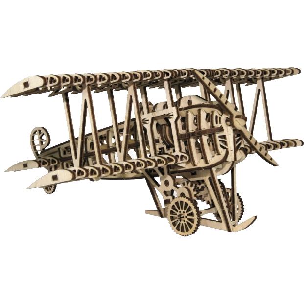 3D-конструктор из дерева Wood Trick Самолет3D пазлы и конструкторы<br>Сувениры Wood Trick — это механические 3D-модели, которые собираются без клея и понятны даже ребенку.<br><br>Цвет товара: Бежевый<br>Материал: Натуральное дерево (фанера)
