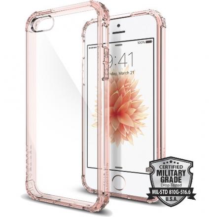 Чехол Spigen Crystal Shell для iPhone 5/5S/SE розовое золото (SGP-041CS20178)Чехлы для iPhone 5/5S/SE<br>Чехол Spigen Crystal Shell для iPhone SE прозрачно-розовый (SGP-041CS20178)<br><br>Цвет: Розовое золото<br>Материал: Пластик, резина