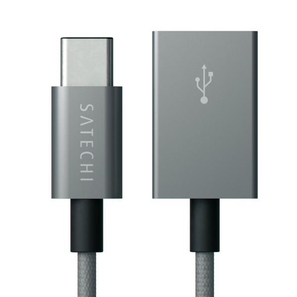 Переходник Satechi Aluminum Type-C USB 3.1 to Type-A USB 2.0 серыйКабели Type-C и другие<br>Satechi Aluminum прослужит Вам очень долго!<br><br>Цвет товара: Серый<br>Материал: Алюминий, пластик, текстиль