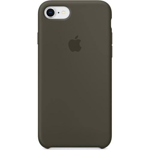Силиконовый чехол Apple Silicone Case для iPhone 8/7 (Dark Olive) тёмно-оливковыйЧехлы для iPhone 7<br>Силиконовые чехлы, специально созданные для нового смартфона от Apple, в точности повторяют контуры Айфон, не делая его громоздким.<br><br>Цвет товара: Зелёный<br>Материал: Силикон
