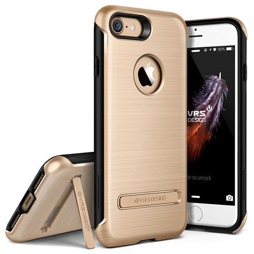 Чехол Verus Duo Guard для iPhone 7 (Айфон 7) золотистый (VRIP7-DGDGD)Чехлы для iPhone 7<br>Чехол Verus для iPhone 7 Duo Guard, шампань (904615)<br><br>Цвет товара: Золотой<br>Материал: Поликарбонат, полиуретан