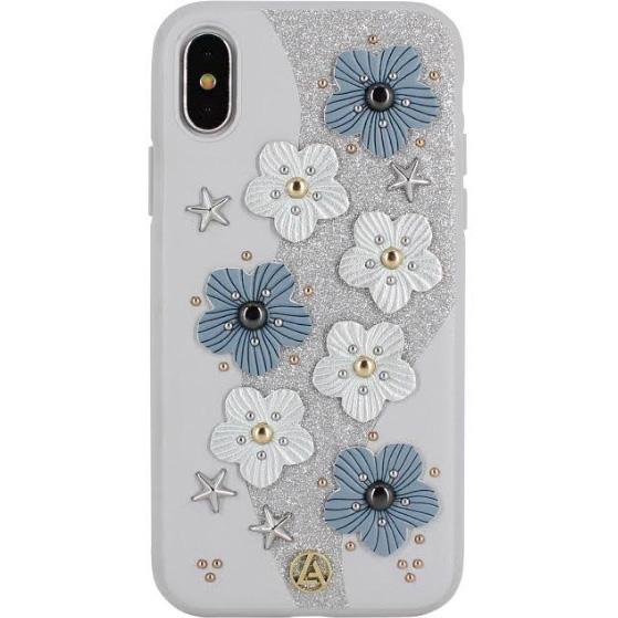 Чехол Luna Aristo Jasmine Series для iPhone X серыйЧехлы для iPhone X<br>Luna Aristo Jasmine Series — оригинальный чехол, который продемонстрирует окружающим ваш безупречный вкус!<br><br>Цвет: Серый<br>Материал: Пластик, текстиль, металл
