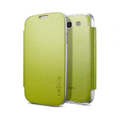 Чехол Spigen Ultra Flip для Samsung S3 зелёныйЧехлы для Samsung Galaxy<br>Spigen Ultra Flip представляет собой кейс с тонким и легким корпусом.<br><br>Цвет товара: Зелёный<br>Материал: Поликарбонат, эко-кожа