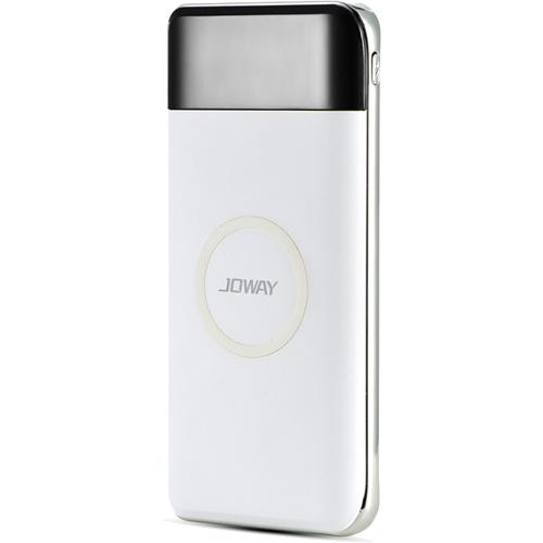 Дополнительный аккумулятор Joway JP150 10000 mAh Wireless белыйДополнительные и внешние аккумуляторы<br><br><br>Цвет товара: Белый<br>Материал: Пластик, алюминий