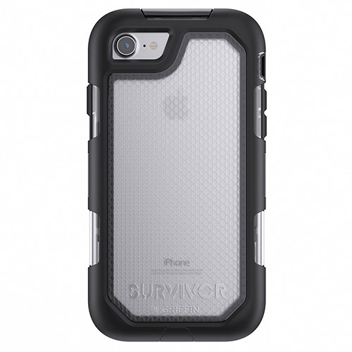 Чехол Griffin Survivor Summit для iPhone 7 чёрный/прозрачныйЧехлы для iPhone 7<br>Чехол Griffin Survivor Summit для iPhone 7 чёрный/прозрачный<br><br>Цвет товара: Чёрный<br>Материал: Термопластичный эластомер высокой твердости, взрывоустойчивый поликарбонат, силикон