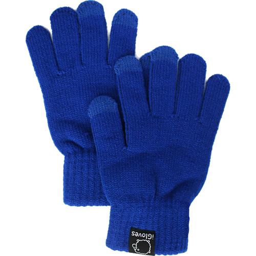 Перчатки из полушерсти iGloves (w3) для iPhone/iPod/iPad/etc синие (Размер M)Перчатки для экрана<br>Перчатки iGloves  — отличный подарок на Новый Год!<br><br>Цвет: Синий<br>Материал: 50% - шерсть, 50% - акрил<br>Модификация: M