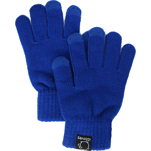 Перчатки из полушерсти iGloves (w3) для iPhone/iPod/iPad/etc синие (Размер M) от iCases
