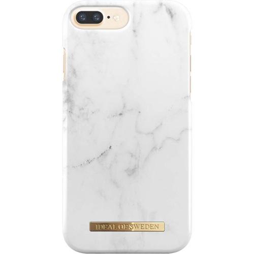Чехол iDeal of Sweden Fashion Case для iPhone 8 Plus/7 Plus/6 Plus (White Marble)Чехлы для iPhone 6/6s Plus<br>Чехол iDeal of Sweden Fashion Case станет истинным украшением самого лучшего смартфона!<br><br>Цвет товара: Белый<br>Материал: Пластик, замша