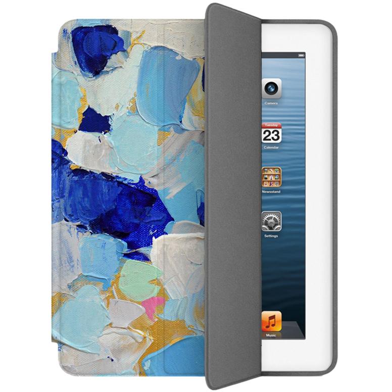 Чехол Muse Smart Case для iPad 2/3/4 Мазки 1Чехлы для iPad 1/2/3/4<br>Чехлы Muse — это индивидуальность, насыщенность красок, ультрасовременные принты и надёжность.<br><br>Цвет: Синий<br>Материал: Поликарбонат, полиуретановая кожа