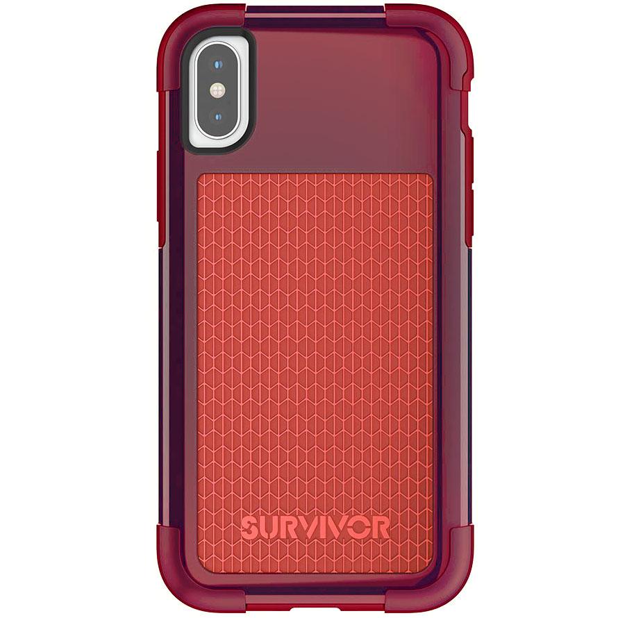 Чехол Griffin Survivor Fit для iPhone X красный/тёмно-красныйЧехлы для iPhone X<br>Survivor Fit — это многослойный чехол нового поколения!<br><br>Цвет товара: Красный<br>Материал: Поликарбонат, полиуретан<br>Модификация: iPhone 5.8