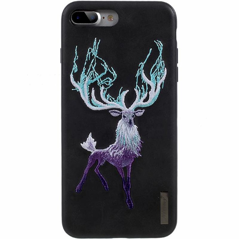 Чехол Nimmy Fantasy Denim для iPhone 7 Plus / 8 Plus (Олень) чёрныйЧехлы для iPhone 7 Plus<br>Чехлы Nimmy Fantasy Denim (стиль 11) — это тандем стиля и качества.<br><br>Цвет: Чёрный<br>Материал: Пластик, силикон, текстиль
