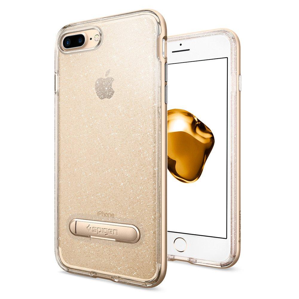 Чехол Spigen Crystal Hybrid Glitter для iPhone 7 Plus (Айфон 7 Plus) шампань (SGP-043CS21215)Чехлы для iPhone 7 Plus<br>Ультратонкий и ультралёгкий и кристально-прозрачный чехол Spigen Crystal Hybrid Glitter создан специально для iPhone 7 Plus!<br><br>Цвет товара: Золотой<br>Материал: Термопластичный полиуретан, поликарбонат