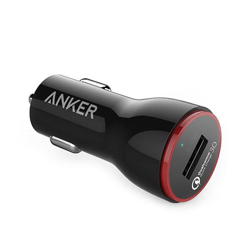 Автомобильное зарядное устройство Anker PowerDrive+ 1 with Quick Charge 3.0 (A2210012) чёрноеАвтозарядки<br>Anker PowerDrive+ 1 with Quick Charge 3.0 - компактное автомобильное зарядное устройство.<br><br>Цвет товара: Чёрный<br>Материал: Пластик