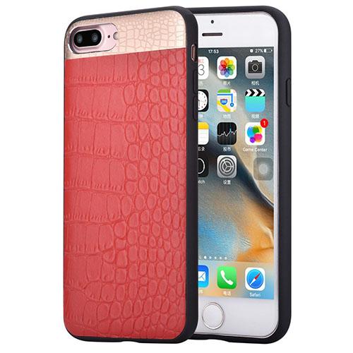 Чехол Comma Croco2 Leather Case для iPhone 7 Plus красныйЧехлы для iPhone 7 Plus<br>Comma Croco2 Leather Case - кожаный чехол премиум-качества для iPhone 7 Plus.<br><br>Цвет товара: Красный<br>Материал: Натуральная кожа, полиуретан