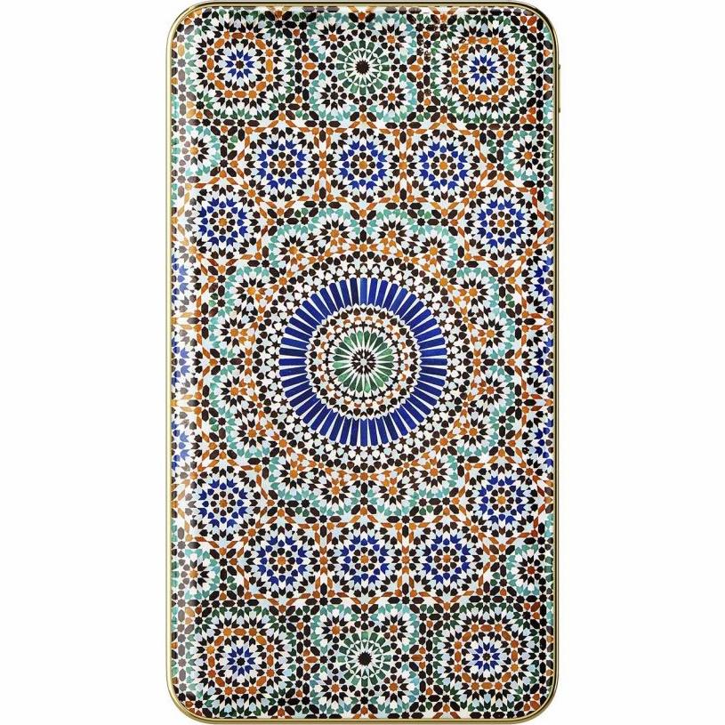 Внешний аккумулятор Ideal of Sweden Fashion Power Bank на 5000 мАч Moroccan ZelligeДополнительные и внешние аккумуляторы<br>Мощный, тонкий и лёгкий внешний аккумулятор, который обладает по-настоящему ярким дизайном!<br><br>Цвет: Разноцветный<br>Материал: Пластик, алюминий