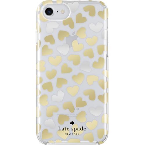 Чехол Kate Spade New York Protective Hardshell Case для iPhone 8/7/6s/6 (Dancing Hearts)Чехлы для iPhone 6/6s<br><br><br>Цвет товара: Прозрачный<br>Материал: Пластик, силикон