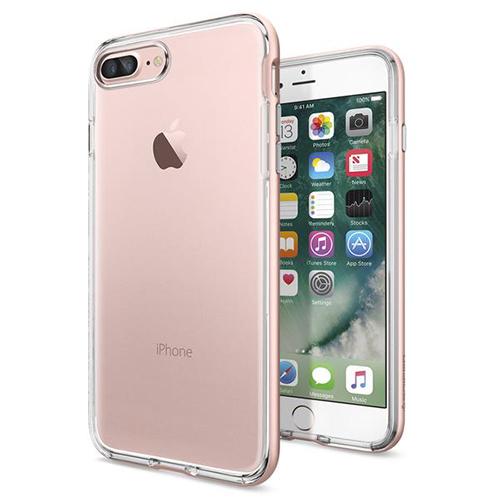 Чехол Spigen Neo Hybrid Crystal для iPhone 7 Plus (Айфон 7 Плюс) розовое золото (SGP-043CS20542)Чехлы для iPhone 7 Plus<br>Чехол Spigen для iPhone 7 Plus Neo Hybrid Crystal розовое золото (043CS20542)<br><br>Цвет товара: Розовое золото<br>Материал: Поликарбонат, полиуретан