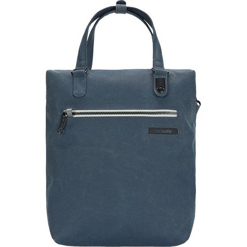 Сумка-рюкзак PacSafe Intasafe Backpack Tote (Navy Blue) синяяРюкзаки<br>Сумка-рюкзак PacSafe Intasafe Backpack Tote отлично подходит для городских прогулок, и легко вместит самое необходимое!<br><br>Цвет товара: Синий<br>Материал: Poly Canvas (канвас) 600D, нейлон 70D