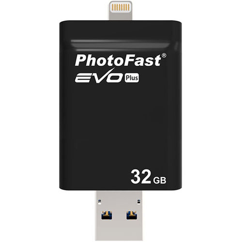 Флешка PhotoFast Evo Plus 32Gb для iOS/Mac/PCФлешки для смартфонов<br>Флешка PhotoFast i-FlashDrive EVO Plus 32Гб Black<br><br>Материал: Пластик<br>Модификация: 32 Гб