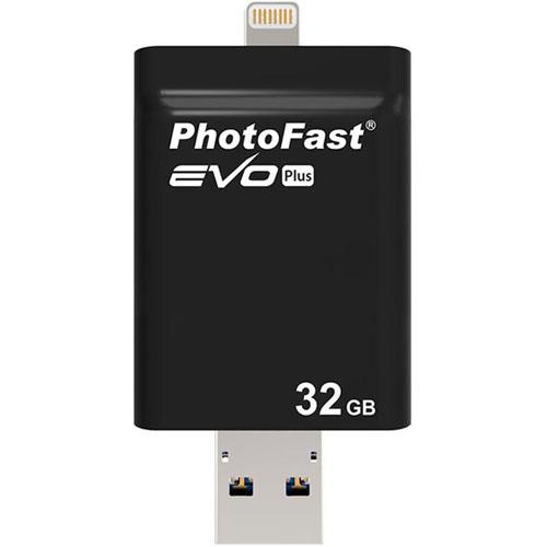 Флешка PhotoFast Evo Plus 32Gb для iOS/Android/Mac/PCФлешки для смартфонов и планшетов<br>Флешка PhotoFast i-FlashDrive EVO Plus 32Гб Black<br><br>Цвет товара: Чёрный<br>Материал: Пластик<br>Модификация: 32 Гб
