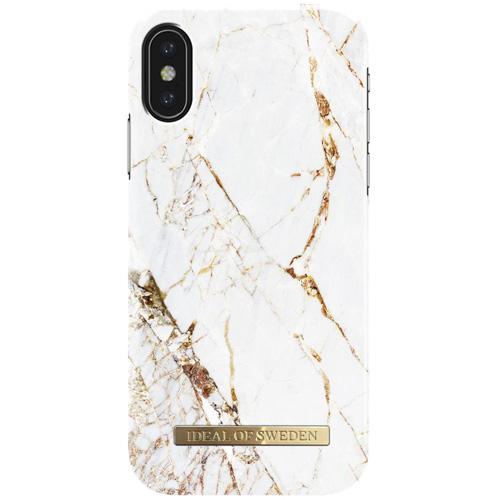 Чехол iDeal of Sweden Fashion Case для iPhone X (Carara Gold)Чехлы для iPhone X<br>Чехол iDeal of Sweden Fashion Case станет истинным украшением самого лучшего смартфона!<br><br>Цвет товара: Белый<br>Материал: Пластик, замша