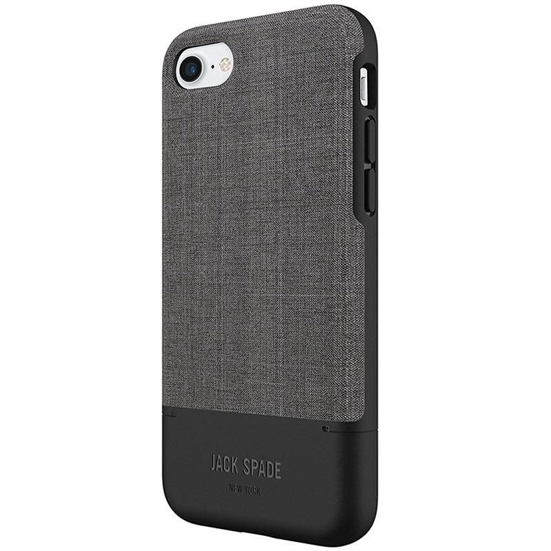 Jack Spade Credit Card Case для iPhone 7 серый/чёрныйЧехлы для iPhone 7<br>Jack Spade Credit Card Case - надёжный и функциональный чехол для вашего смартфона.<br><br>Цвет товара: Серый<br>Материал: Поликарбонат, текстиль