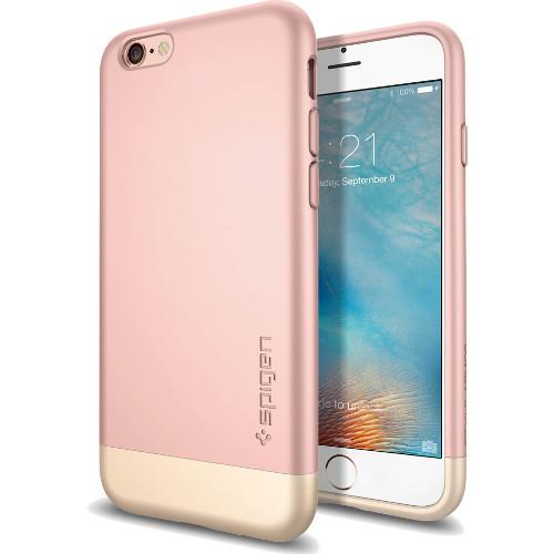 Чехол Spigen Style Armor для iPhone 6/6s Plus розовое золото (SGP11728)Чехлы для iPhone 6s PLUS<br>Чехол Spigen для iPhone 6S Plus Style Armor розовое золото  (SGP11728)<br><br>Цвет товара: Розовое золото<br>Материал: Поликарбонат