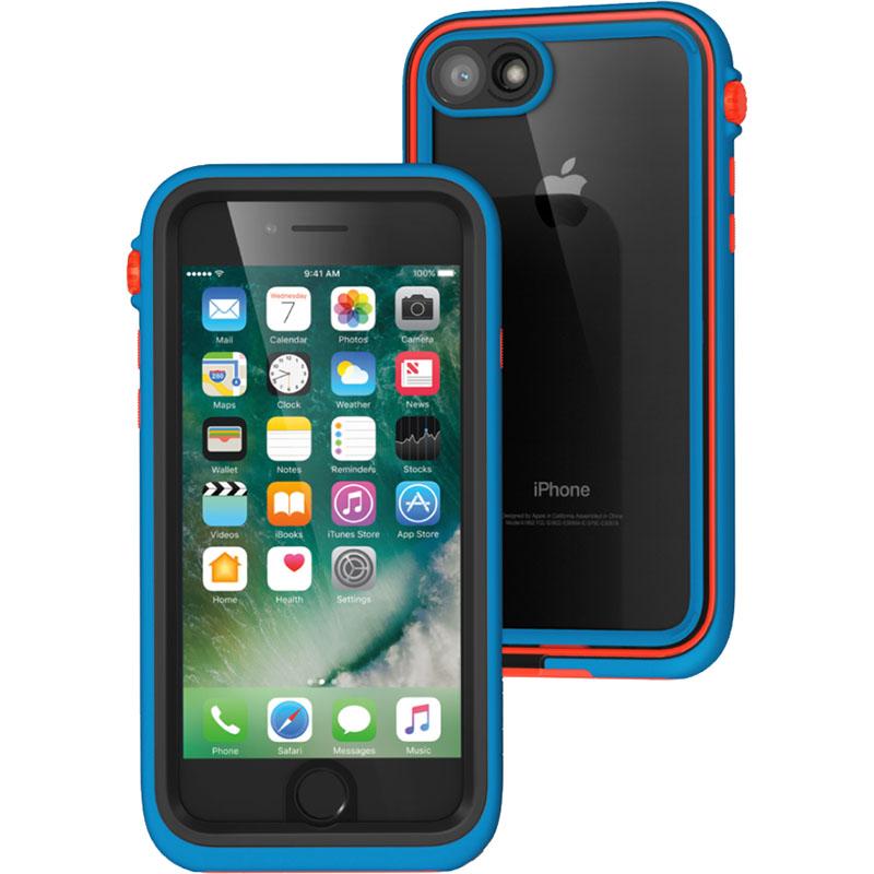 Чехол Catalyst Case Limited Edition для iPhone 7 Blueride синий/оранжевыйЧехлы для iPhone 7<br>Catalyst Case сочетает высокую степень защиты и идеальную посадку на iPhone 7.<br><br>Цвет товара: Синий<br>Материал: Поликарбонат, полиуретан