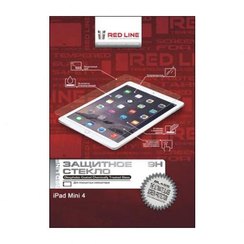 Защитное стекло Red Line для iPad mini 4 глянцевоеСтекла/пленки на планшеты<br>Защитное стекло RED LINE для защиты дисплея вашего iPad mini 4.<br><br>Цвет товара: Прозрачный<br>Материал: Закалённое стекло, олеофобное покрытие
