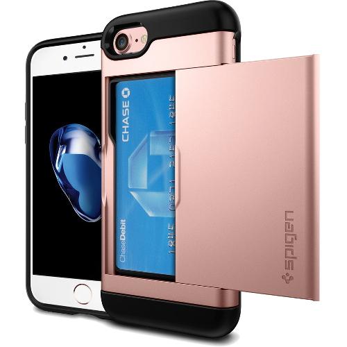 Чехол Spigen Slim Armor CS для iPhone 7 (Айфон 7) розовое золото (SGP-042CS20454)Чехлы для iPhone 7<br><br><br>Цвет товара: Розовое золото<br>Материал: Поликарбонат, полиуретан
