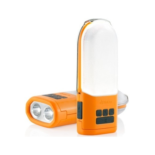 Фонарь BioLite PowerLight с аккумуляторомПоходные приборы от BioLite<br>Фонарь BioLite PowerLight с аккумулятором<br><br>Цвет товара: Оранжевый<br>Материал: Пластик, металл