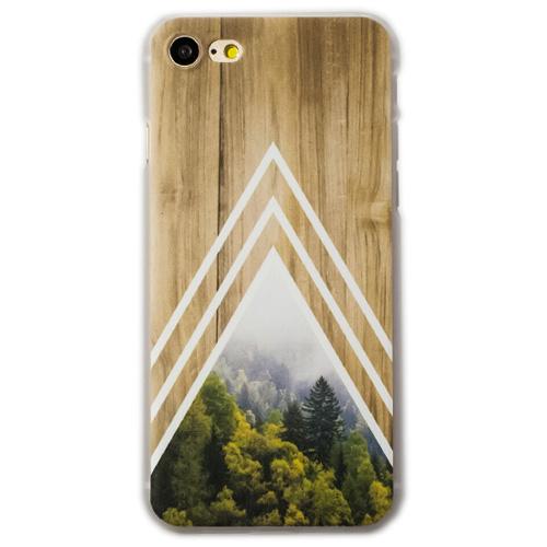 Чехол iPapai «Wood» (Белый лес) для iPhone 7Чехлы для iPhone 7<br>Стильный и надёжный чехол iPapai с уникальным дизайнерским принтом.<br><br>Цвет товара: Разноцветный<br>Материал: Пластик