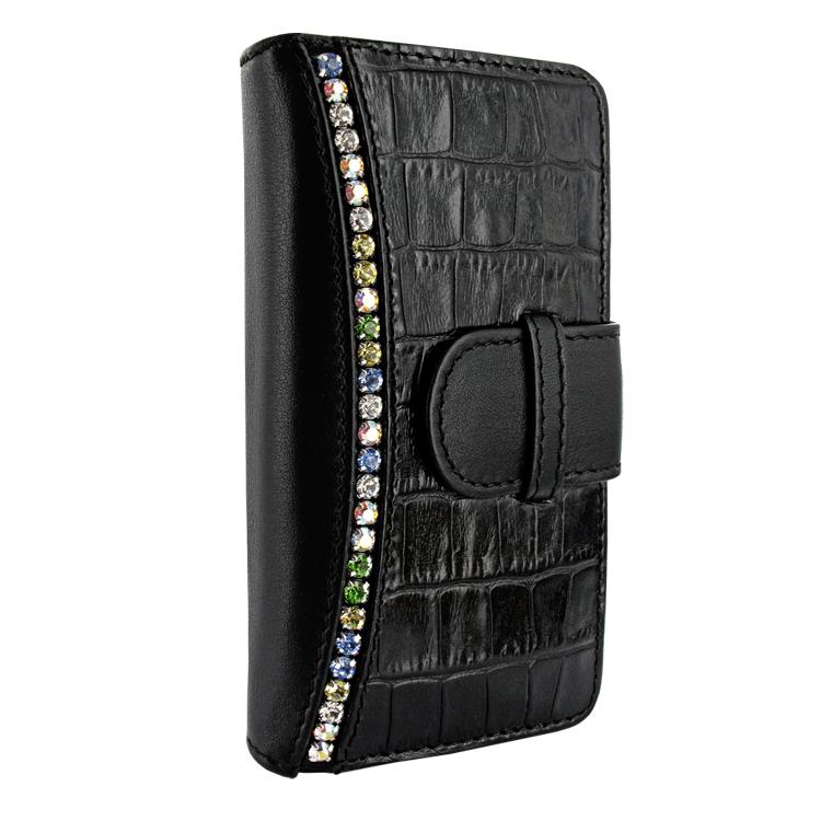 Чехол Piel Frama Wallet Crocodile-Swarovski для iPhone 5/5S/SE чёрныйЧехлы для iPhone 5/5S/SE<br>Piel Frama Wallet Crocodile-Swarovski окутает ваш изящный iPhone SE мерцающим блеском кристаллов Сваровски.<br><br>Цвет товара: Чёрный<br>Материал: Натуральная кожа, пластик