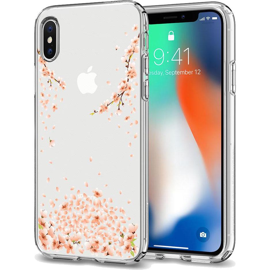 Чехол Spigen Liquid Crystal Blossom для iPhone X кристально-прозрачный (057CS22121)Чехлы для iPhone X<br>Чехол Spigen Liquid Crystal Blossom сделан для тех, кто предпочитает классику и минимализм, а не кратковременные модные веяния.<br><br>Цвет товара: Прозрачный<br>Материал: Термопластичный полиуретан