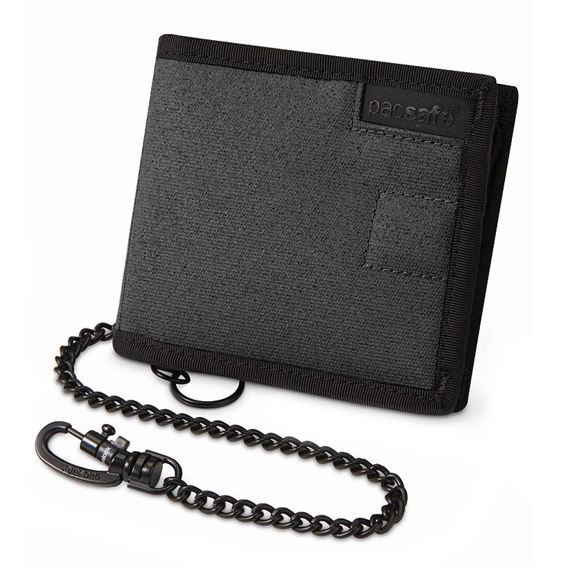 Кошелёк PacSafe RFIDsafe Z100Кошельки и портмоне<br>PacSafe RFIDsafe Z100 поможет защитить деньги на кредитной карте от кражи!<br><br>Цвет товара: Серый<br>Материал: Текстиль, ткань RFIDsafe