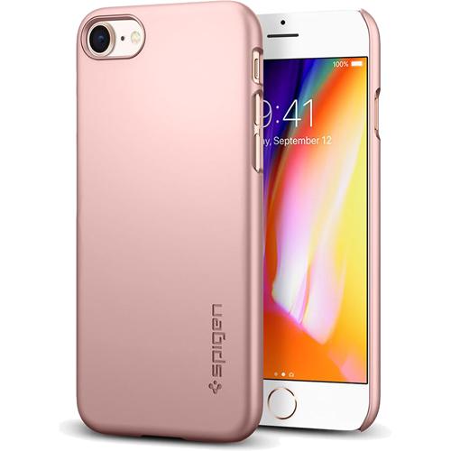 Чехол Spigen Thin Fit для iPhone 8 (Айфон 8) розовое золото (SGP-054CS22207)Чехлы для iPhone 8<br>Spigen Thin Fit — это чехол с лёгким и свежим дизайном, который создан специально для iPhone 8!<br><br>Цвет: Розовое золото<br>Материал: Поликарбонат