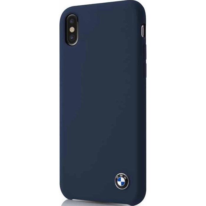 Чехол BMW Signature Liquid silicone Hard для iPhone X синий NavyЧехлы для iPhone X<br>Скорость, адреналин, гонки и конечно роскошные и мощные автомобили от BMW — вот символы целой серии чехлов для защиты вашего iPhone.<br><br>Цвет товара: Синий<br>Материал: Силикон, микрофибра, поликарбонат