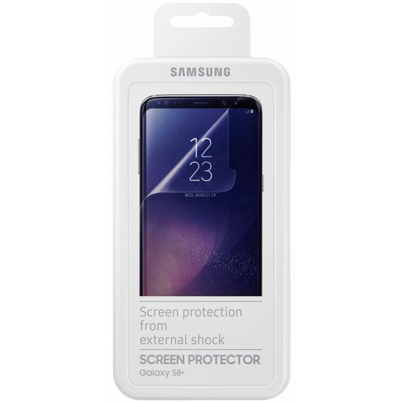 Защитная плёнка Samsung для Samsung Galaxy S8+Стекла/Пленки на смартфоны<br>Плёнка Samsung отлично подходит для повседневного использования!<br><br>Цвет товара: Прозрачный<br>Материал: Пластик