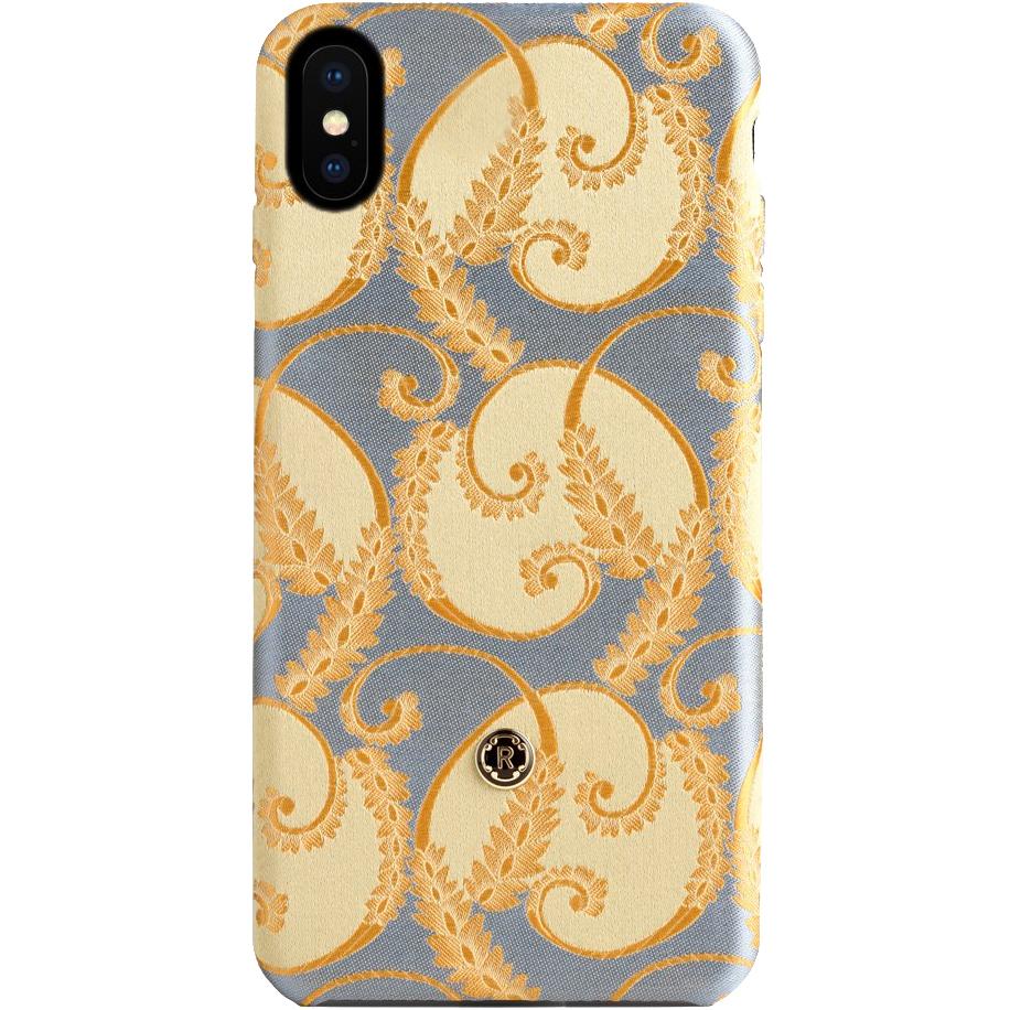 Чехол Revested Silk Collection для iPhone X Gold of FlorenceЧехлы для iPhone X<br>Премиум-чехлы от лучших мастеров из Италии!<br><br>Цвет товара: Золотой<br>Материал: Шёлк, поликарбонат