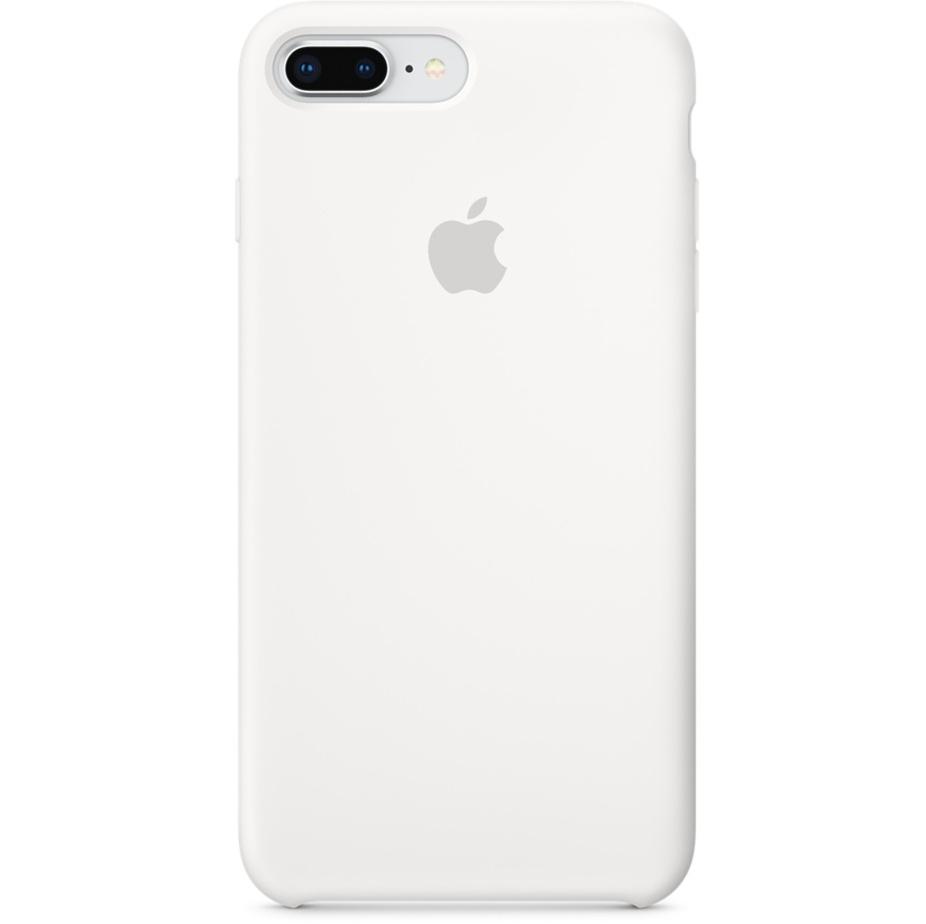 Силиконовый чехол Apple Case для iPhone 8 Plus / iPhone 7 Plus белыйЧехлы для iPhone 7 Plus<br>Лучший защитник вашего гаджета от царапин, потертости, трещин и даже сколов.<br><br>Цвет товара: Белый<br>Материал: Силикон