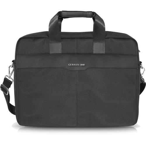 Сумка Cerruti 1881 для MacBook 15 (CECB15NYBK) чёрнаяСумки для ноутбуков<br>Изысканная и удобная городская сумка Cerruti 1881 для ноутбука с диагональю до 15 дюймов.<br><br>Цвет товара: Чёрный<br>Материал: Кожа, полиэстер