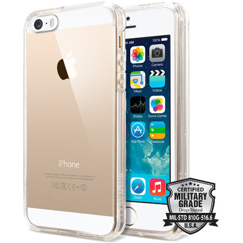 Чехол Spigen Ultra Hybrid для iPhone 5/5S/SE кристально-прозрачный (SGP10640)Чехлы для iPhone 5s/SE<br>Чехол Spigen Ultra Hybrid для iPhone SE кристально-прозрачный (ECO Package) (SGP10640)<br><br>Цвет товара: Прозрачный<br>Материал: Пластик