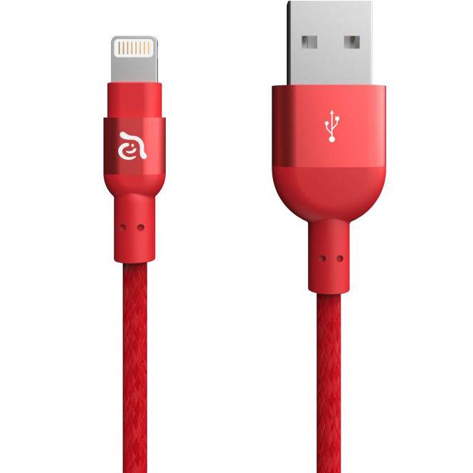 Кабель Adam Elements PeAk II Lightning 120B красныйКабели Lightning<br>Adam Elements PeAk II Lightning позволяет в мгновение ока синхронизировать и заряжать устройства Apple!<br><br>Цвет: Красный<br>Материал: Нейлон, алюминий, пластик