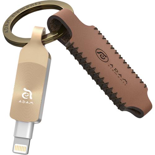 Флеш-накопитель ADAM elements iKlips DUO+ 32Gb Lightning / USB 3.1 светящийся янтарьФлешки для смартфонов и планшетов<br>Идеальный инструмент для хранения, переноса и резервного копирования данных, совместимый со всеми устройствами Apple.<br><br>Цвет: Золотой<br>Материал: Сплав цинка, алюминиевый сплав<br>Модификация: 32 Гб