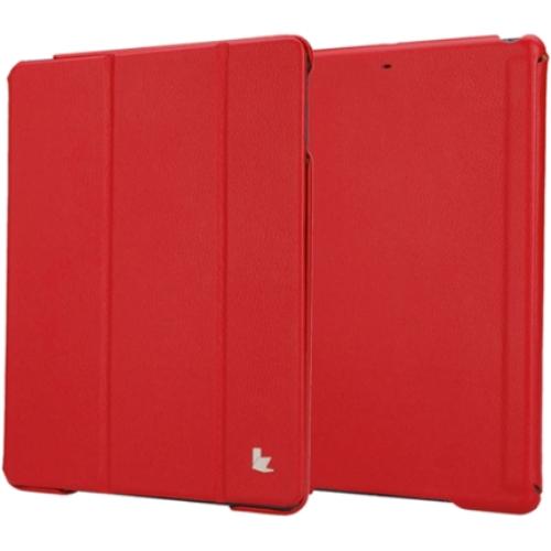 Чехол Jison Smart Cover для iPad Air красныйЧехлы для iPad Air<br>Чехол Jison Smart Cover - это чистые линии и высокая функциональность, простота и технологичность, элегантность и универсальный дизайн.<br><br>Цвет товара: Красный<br>Материал: Натуральная кожа, поликарбонат
