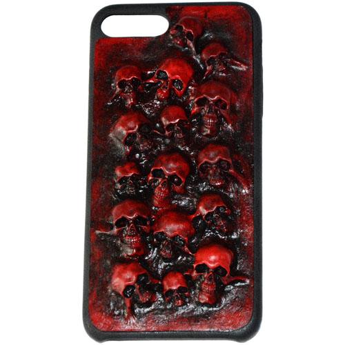 Чехол Evil Dead Красные черепа для iPhone 7 PlusЧехлы для iPhone 7 Plus<br>Чехлы Evil Dead никого не оставят равнодушным!<br><br>Цвет товара: Красный