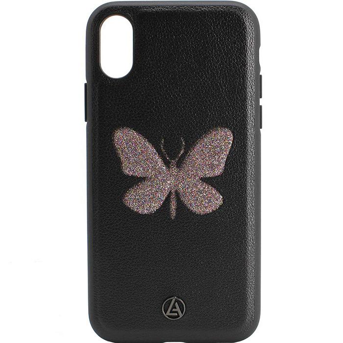 Чехол Luna Aristo Farfalla Series для iPhone X чёрныйЧехлы для iPhone X<br>Оригинальный дизайн и надёжная защита!<br><br>Цвет: Чёрный<br>Материал: Пластик, текстиль